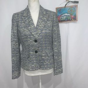Jones New York Suit tweed blazer lined jacket